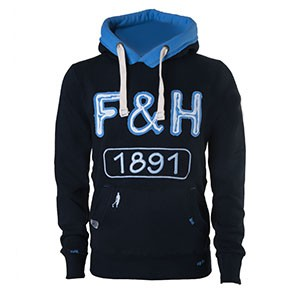 Field and Hockey hoodie 1891 petrol