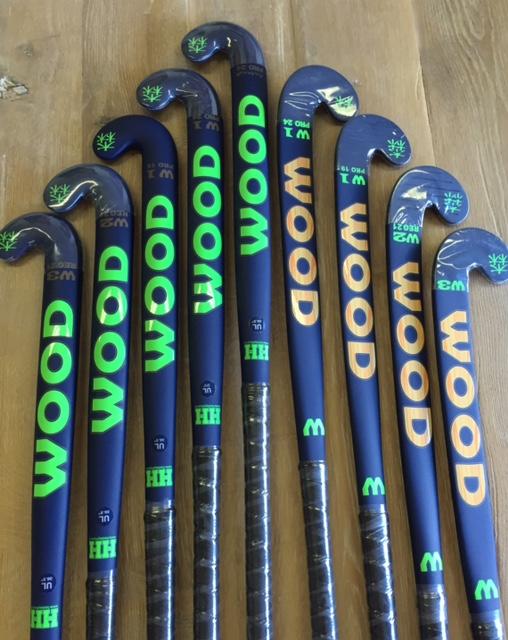 Wood donker blauwe hockeystick