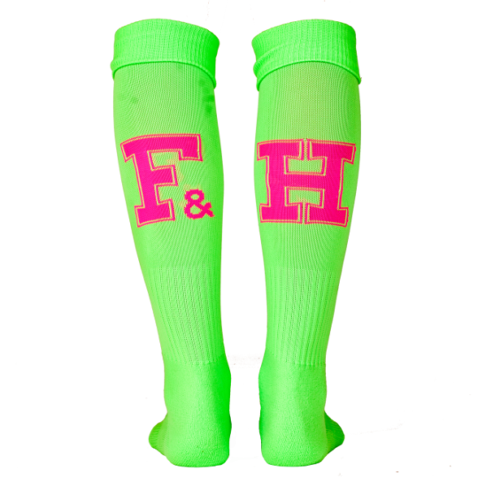 Field and Hockey sokken Lime / roze
