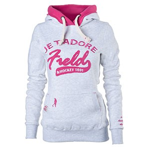 Field and Hockey hoodie Je t'adore lichtgrijs