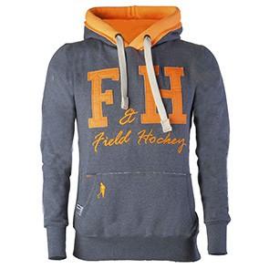 Field and Hockey hoodie grijs / oranje