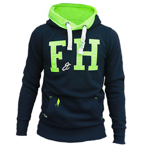 Field and Hockey hoodie navy lime.