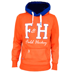 Field and Hockey hoodie oranje