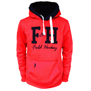 Field and Hockey hoodie rood