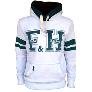 Field and Hockey hoodie wit / groen