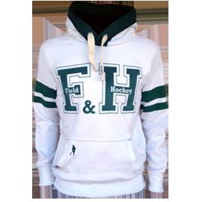 Field and Hockey hoodie wit / groen