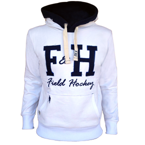Field and Hockey hoodie wit / navy
