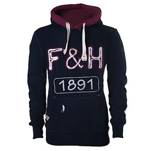 Field and Hockey hoodie 1891 bordeau