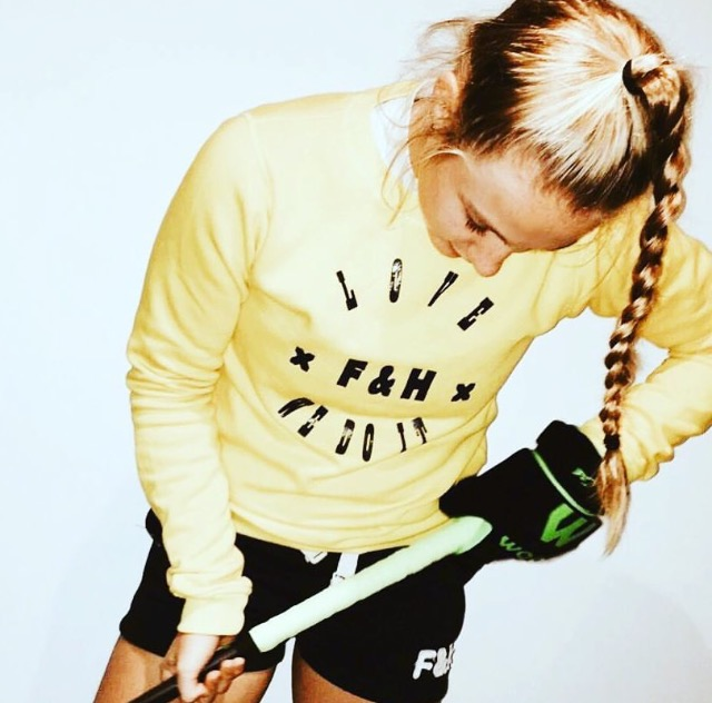Field and Hockey sweater geel LOVE dames