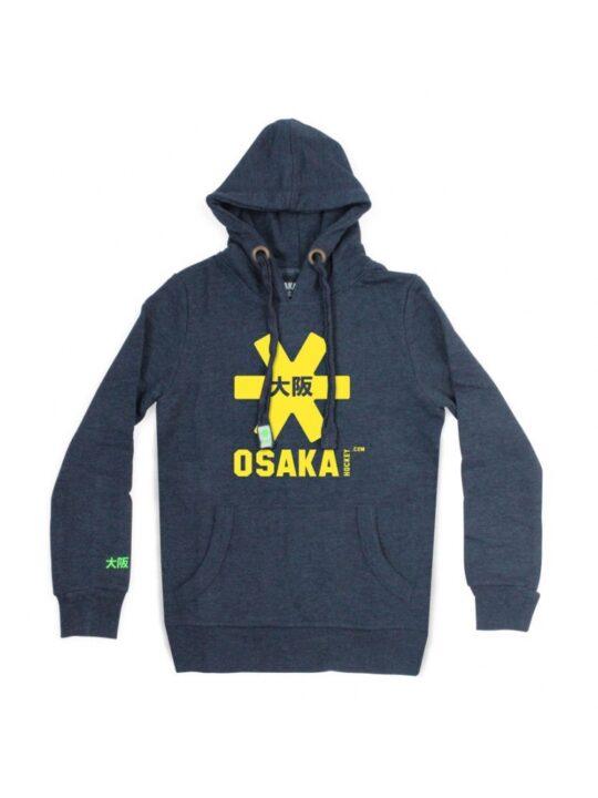 Osaka hoodie kids Navy melange / geel