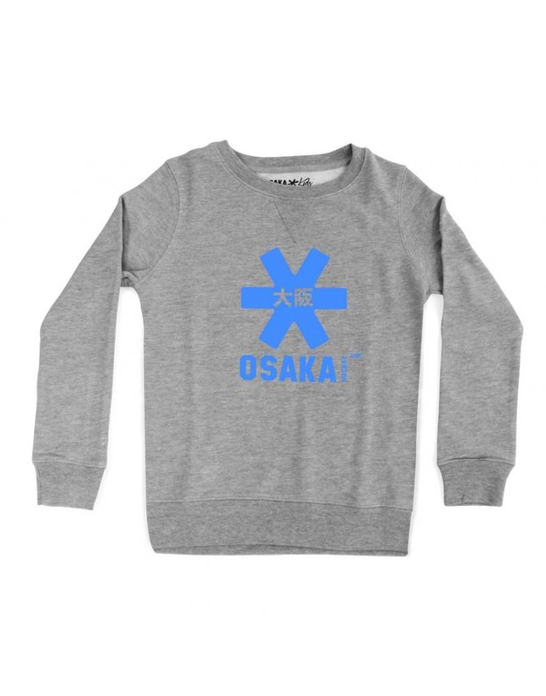 cf1877d9595 Osaka sweater kids Grey BLAUWE STER - De Hockeyzaak