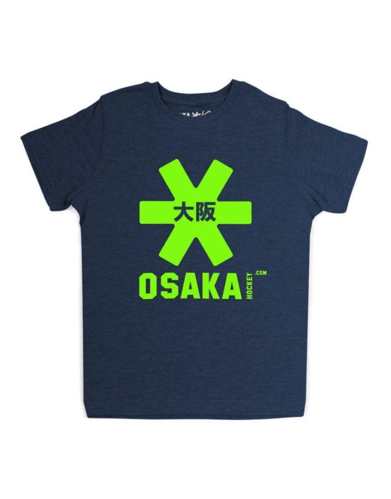 Osaka T-shirt kids Navy melange / groen