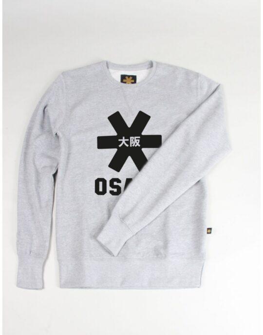 Osaka basic sweater heren Grey / zwart