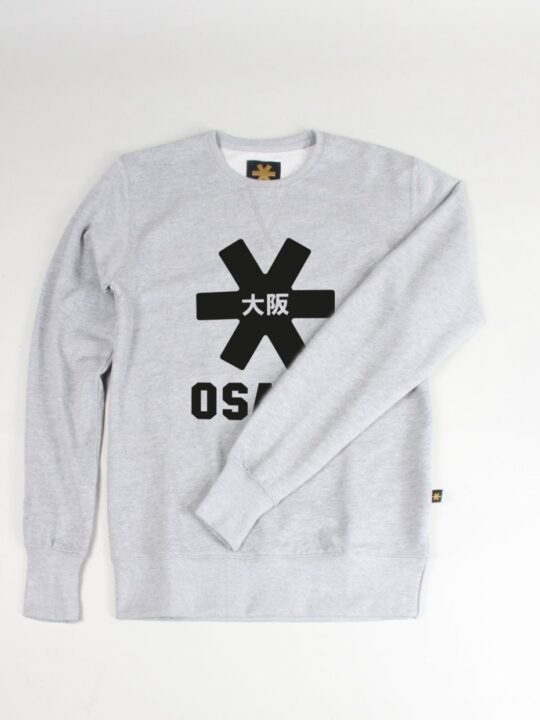 Osaka basic sweater heren Grey / zwart