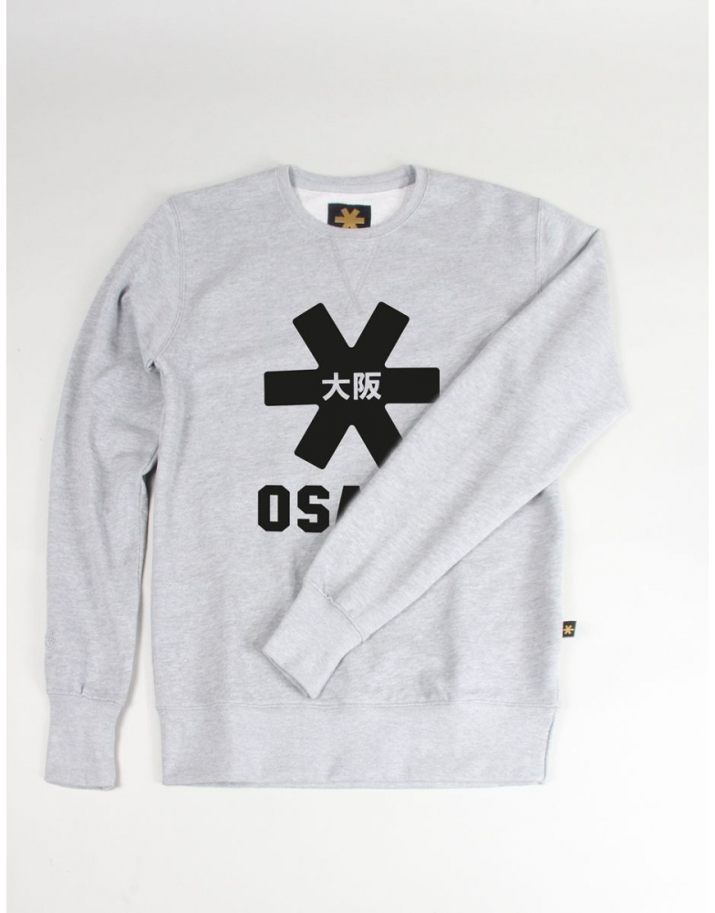 Osaka basic sweater heren Grey zwart De Hockeyzaak