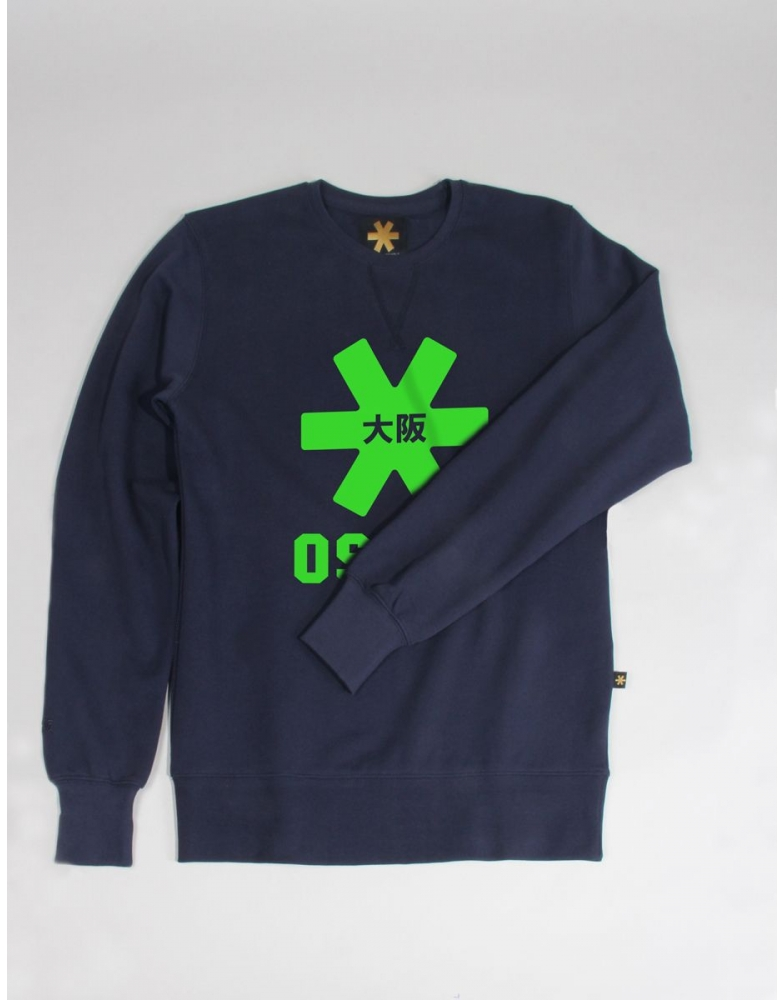 Osaka basic sweater heren Navy / groen