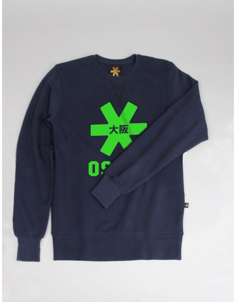 8ee04e5a362 Osaka basic sweater heren Groen Osaka logo - De Hockeyzaak