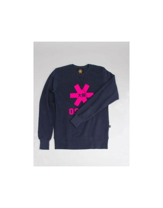 Osaka sweater kids Navy melange / roze