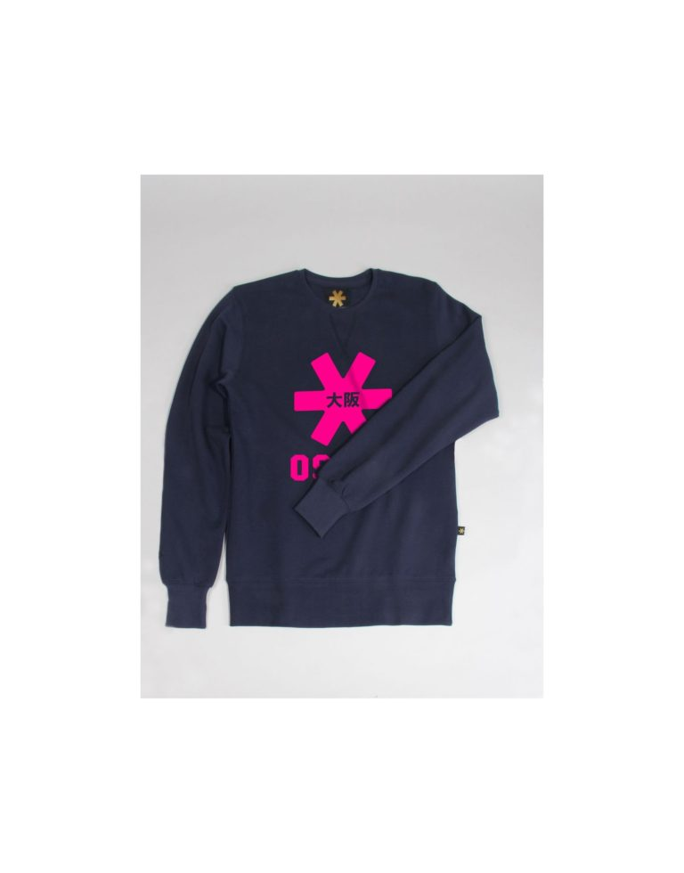 Osaka sweater kids Navy melange / roze