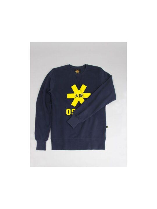 Osaka sweater kids Navy melange / geel