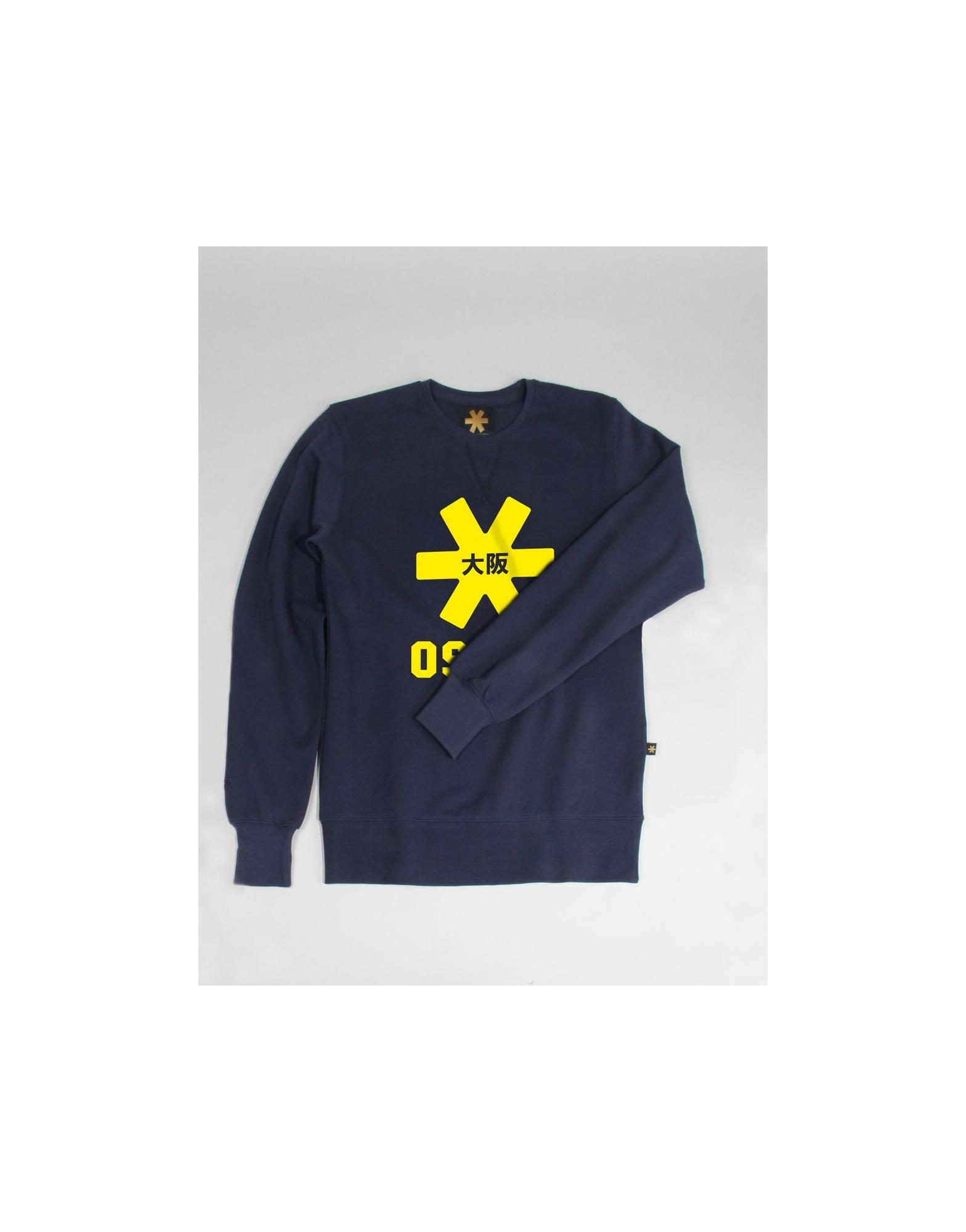 Osaka sweater kids Navy melange / geel