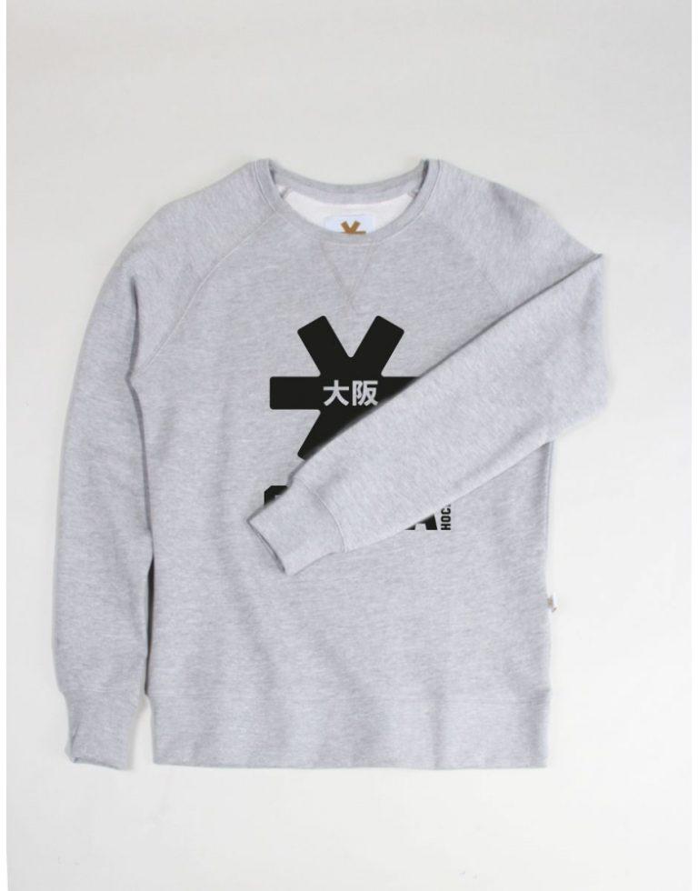 Osaka basic sweater dames Grey / zwart