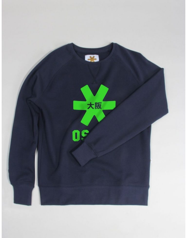 Osaka basic sweater dames Navy / groen