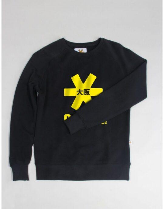Osaka basic sweater dames Black / geel