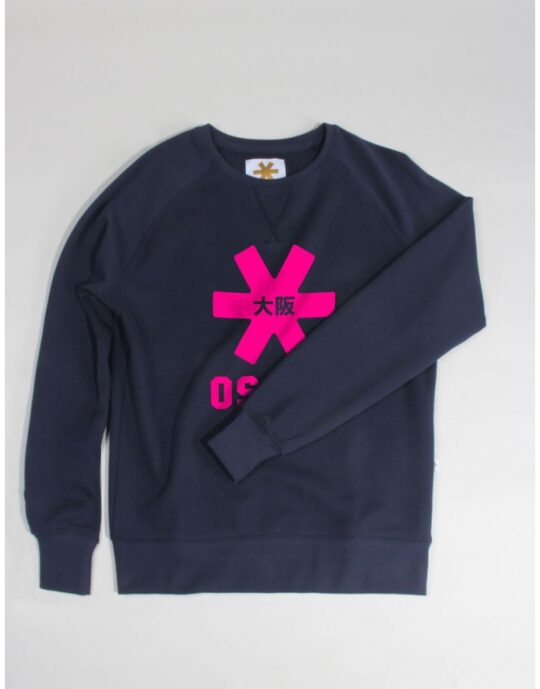 Osaka basic sweater dames Navy / roze