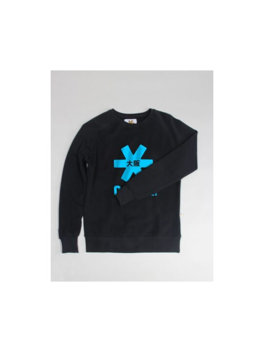 Osaka basic sweater dames zwart / blauw