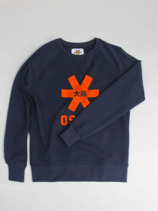 Osaka basic sweater dames Navy / orange