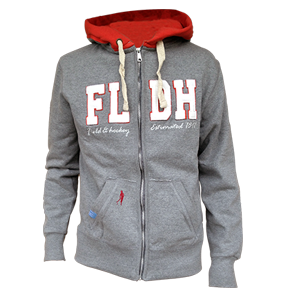 Field and Hockey zipper hoodie grey/orange
