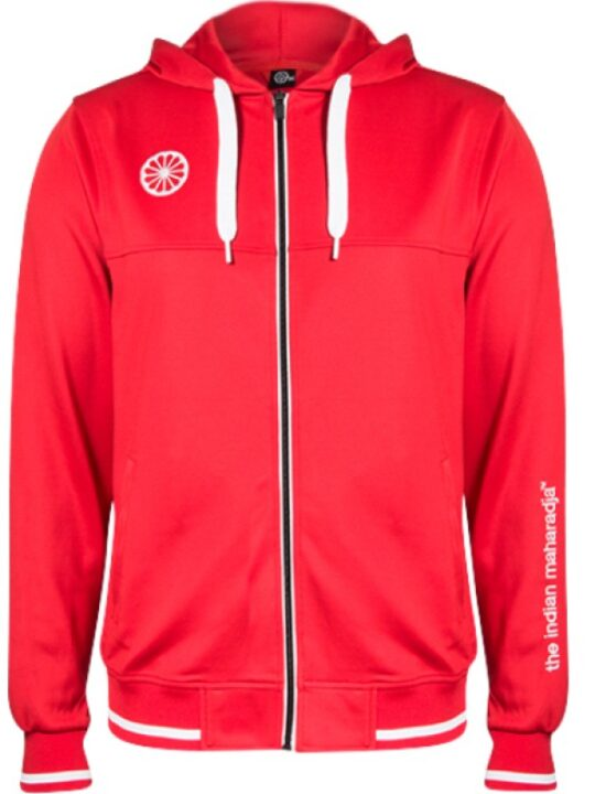Indian Maharadja Hooded Zipper Men Red