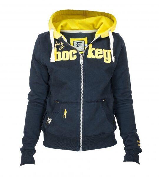 Field and Hockey zipper tightfit Navy / geel