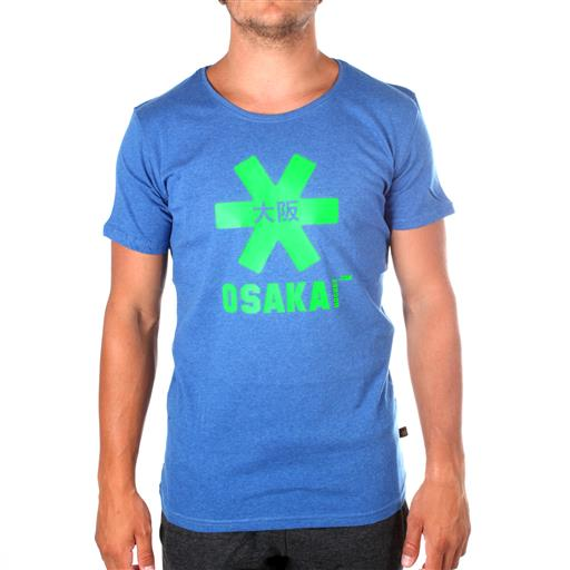 Osaka T-shirt MEN Blue melange - groen