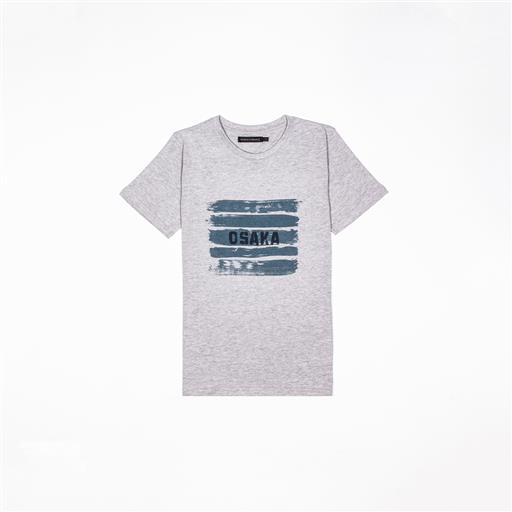 Osaka T-shirt MEN Brush Strokes Grey