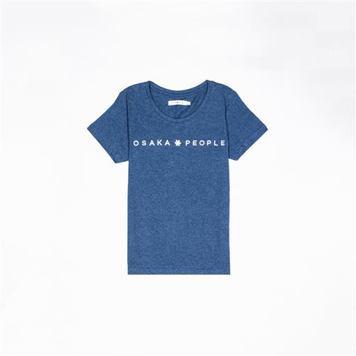 Osaka T-shirt WOMEN Osaka people TEAL blauw melange