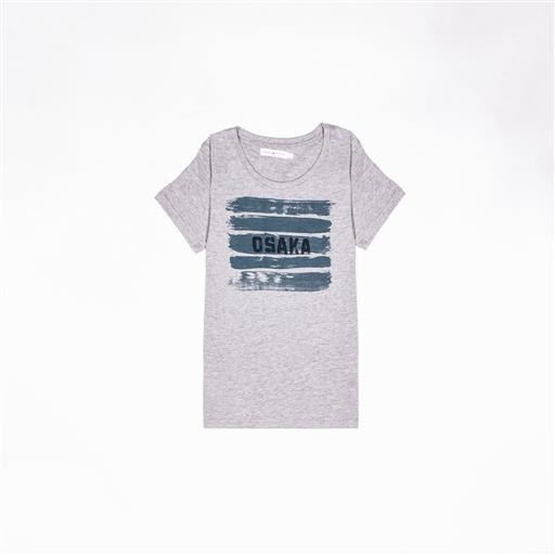 Osaka T-shirt WOMEN Brush Strokes Grey