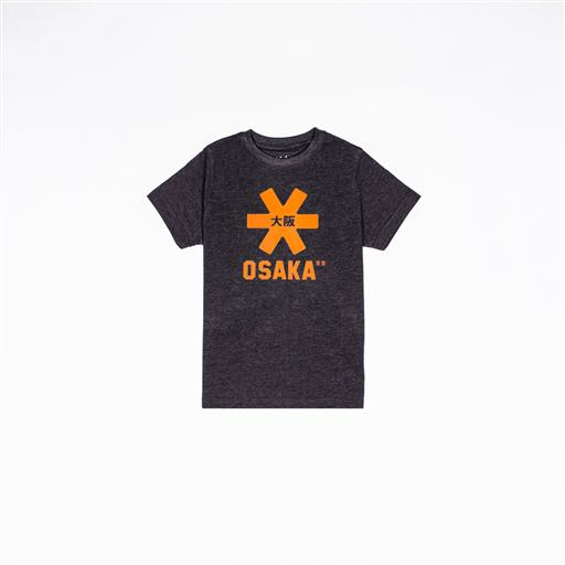 Osaka T-shirt kids antraciet / oranje