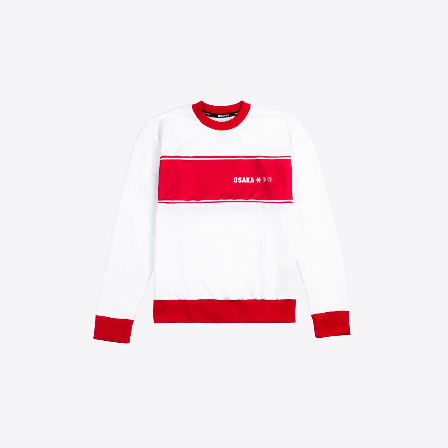842102605d0 Osaka sweater kids Retro ROOD - De Hockeyzaak