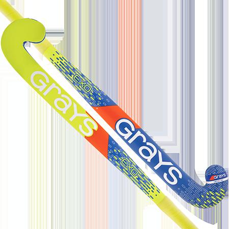 Grays EXO zaalhockeystick KIDS blauw/geel