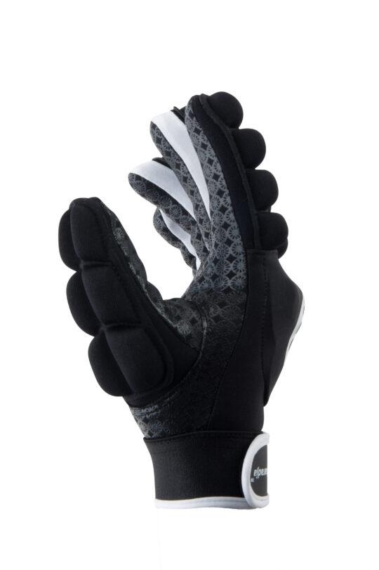 The Indian Maharadja VELD handschoen, FULL FINGER (links) Zwart