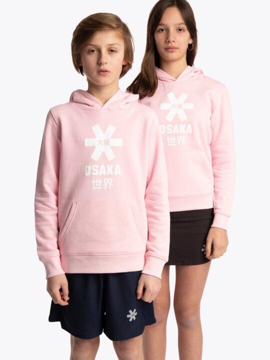 Osaka hoodie kids ROZE/Wit